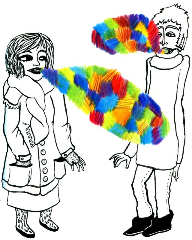 discussion colorée