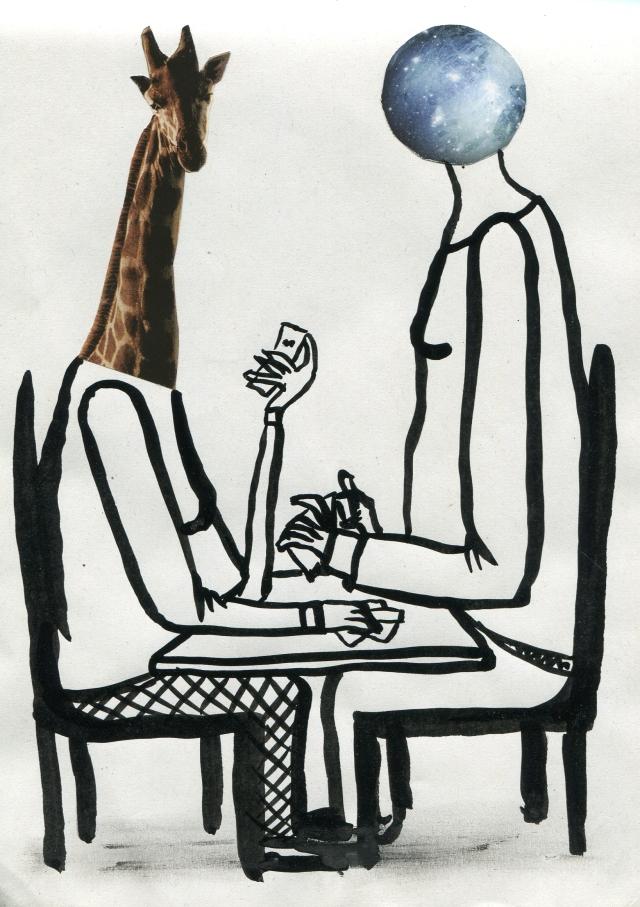 girafe et terre jouent