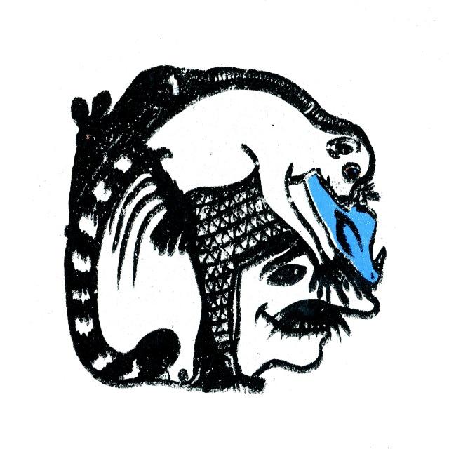 sérigraphie emboités lémurien